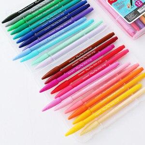 Image 5 - Stylos de bureau à pointe en feutre à base deau, 36 couleurs, 0.4mm, stylo signe, peinture, livres de coloriage pour étudiants et adultes