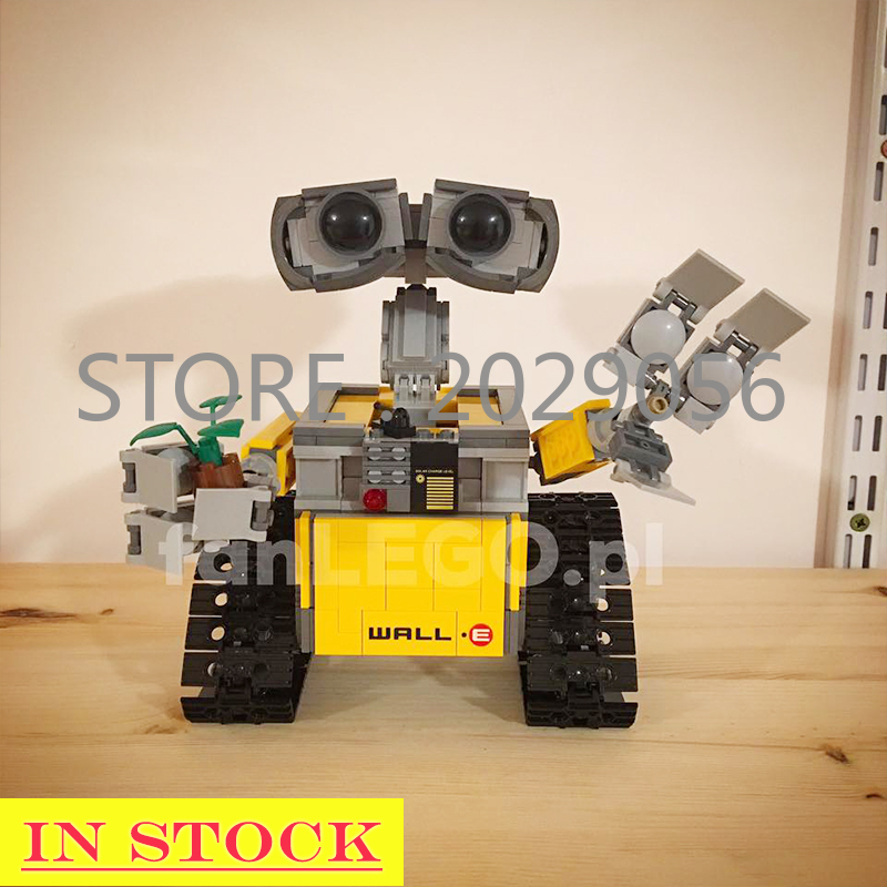 16003 In Stock WALL-E Ideas Technic Robot <font><b>21303</b></font> Toys Model Building Bricks Blocks Educational Birthday Gifts Oscar Movie Series image