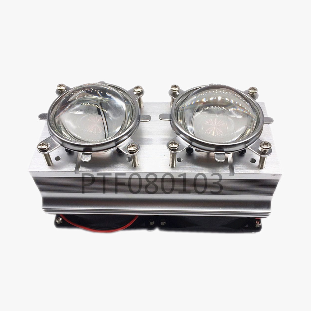 100W 200W High Power LED Heatsink cooling with fans 44mm Lens 60/80/90/120degree +Reflector Bracket(China)