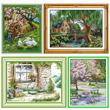 Cross-Stitch-Kit Needlework Joy Sunday Chinese Embroidery-Set Fabric 11CT Printed Counted-Patterns