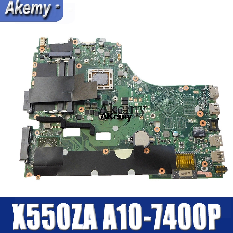 Amazoon X550ZA Laptop Motherboard For ASUS X550ZA X550ZE X550Z X550 K550Z X555Z VM590Z Test Original Mainboard A10-7400P LVDS GM