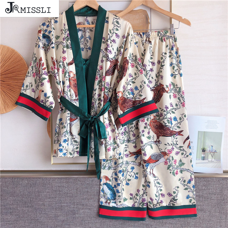JRMISSLI Autumn Long Sleeve Pajama Sets for Women Print Sleepwear Suit Pyjamas Loungewear Homewear Pijama Mujer Home Clothes|Pajama Sets| - AliExpress