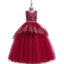 2019 Summer Girl Clothes Kids Dresses for Girls Sleeveless Lace Dress Baby Girl Party Wedding Dress Children Girl Princess Dress цены онлайн