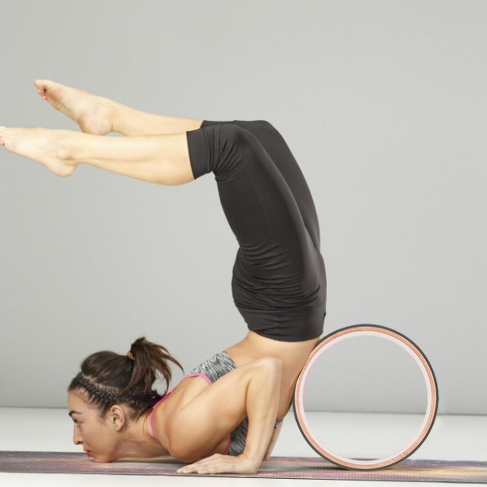 Mandala yoga roda natural cortiça massagem roda