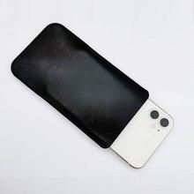 Funda de microfibra de cuero para teléfono móvil, funda de bolsillo con ranura para tarjeta para iPhone 12 Por 12 mini 12 pro max