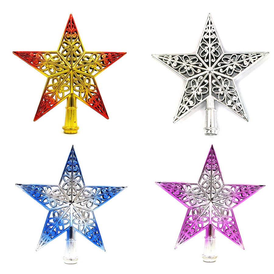 Сверкающая Звезда на верхней части студийный фон с изображением рождественской ели графический планшет star, украшенный по трехмерная полая ...