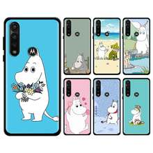 Belle étui souple hippopotame Moomin pour Motorola Edge Plus Moto G stylet G8 Plue Play G Power Lite une couverture Hyper E6s(China)