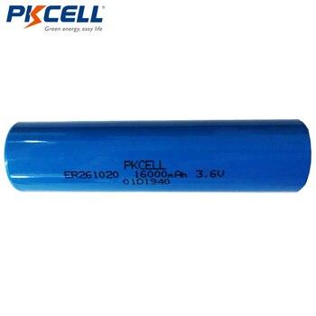 20Pcs/lot PKCELL ER261020 16000mAh 3.6V Lithium Battery Li-SOCl2 High Drain Battery for electricity meter gas meter
