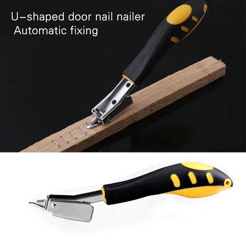 Staple Remover Black Yellow Metal Doornail Wood Dowel Carpentry Tool Parts Staple Nailers Rivet Tool Woodworking Multifunction