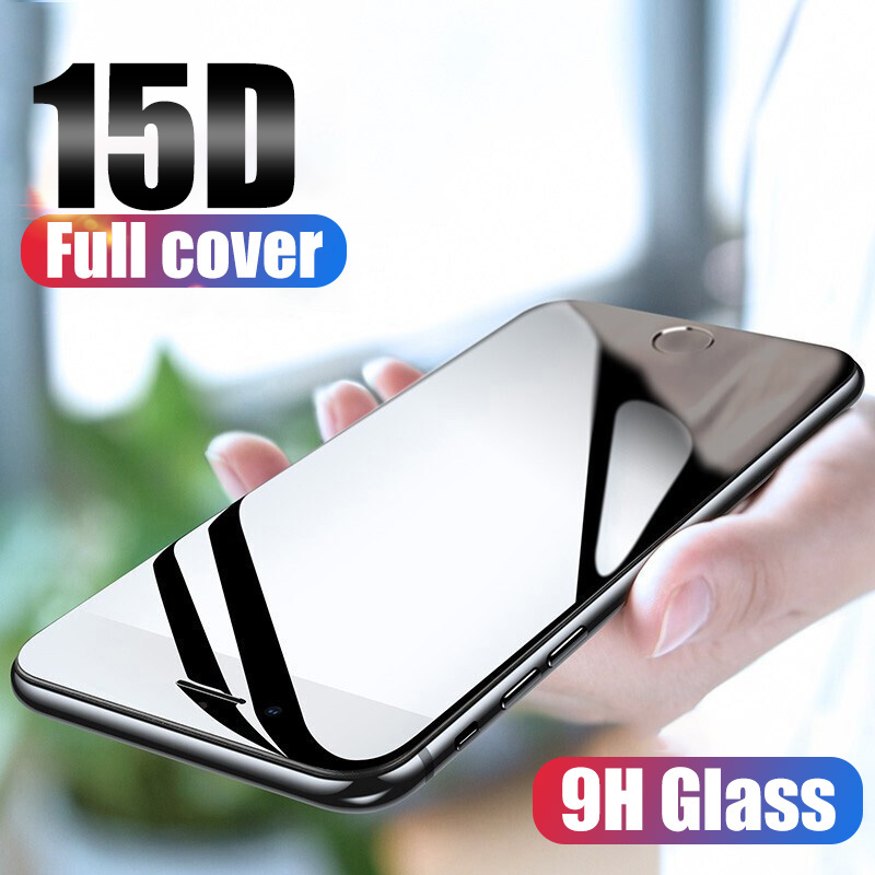 15D Tempered Glass On The For IPhone X 7 8 6 Plus Screen Protector Full Cover Protective Glass For IPhone XR XS Max 6 6s 7 Film