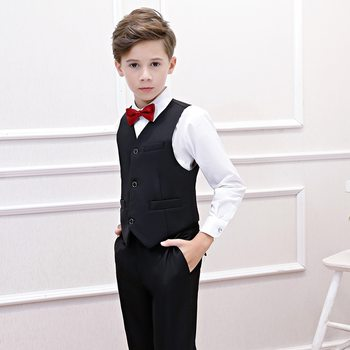 Formal Striped Boys Suit Jacket+Shirt+Pants+Vest Shool Boys Formal Holiday  Boutique Outfit 2020 Boys Clothes  RKS194022