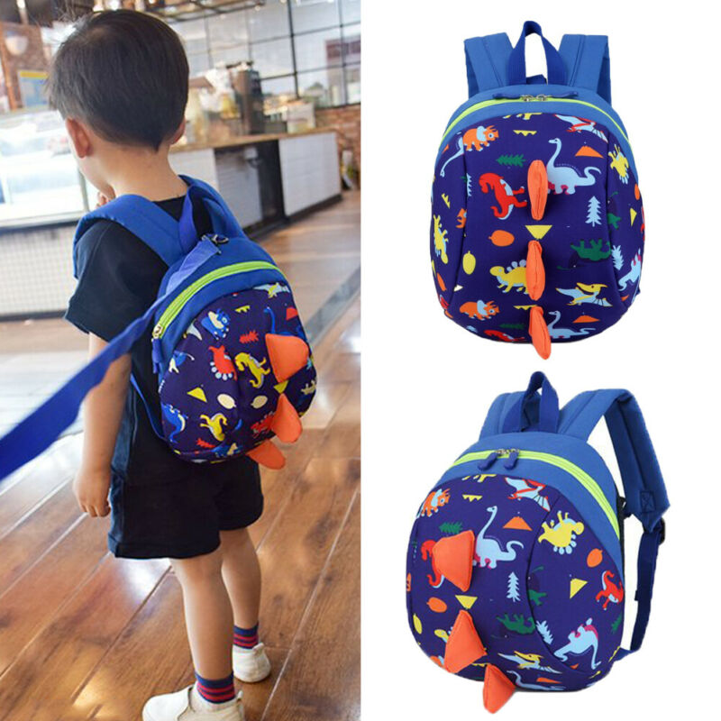 Infant Baby Anti-Lost Dinosaur Backpack Safety Walking Harness Leash For Kids