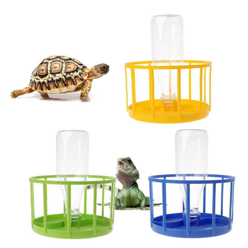 Reptile Feeder Food Water Bowl Aquarium Ornament Terrarium Dish For Turtle Tortoise Lizard