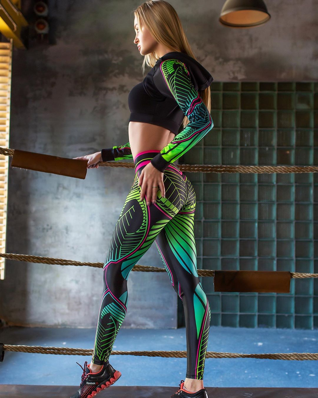 Flora Fauna Printed Gym Leggings For Women
