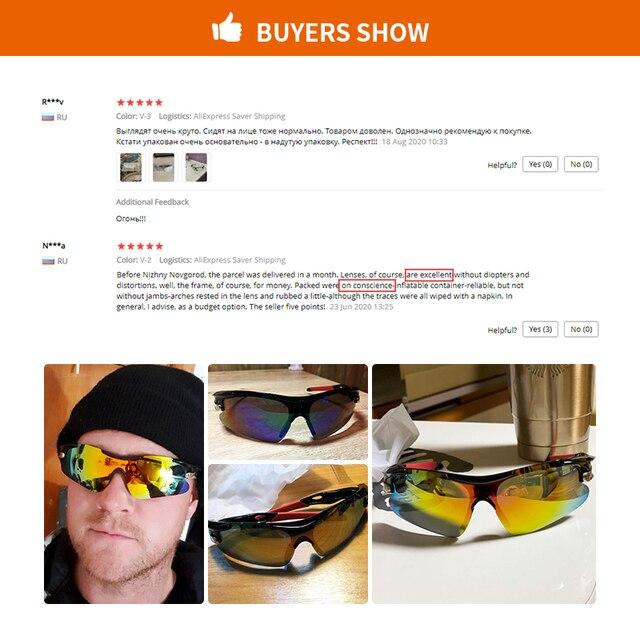 2020 novo esporte ao ar livre ciclismo eyewear mountain bike bicicleta óculos uv400 das mulheres dos homens esportes óculos de sol caminhadas correndo à prova vento 5