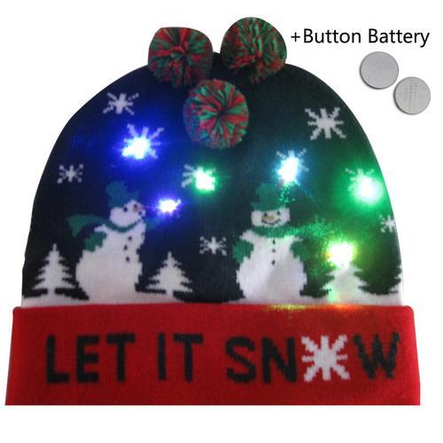 Г., 43 дизайна, светодиодный Рождественский головной убор, Шапка-бини, Рождественский Санта-светильник, вязаная шапка для детей и взрослых, для рождественской вечеринки - Цвет: 27