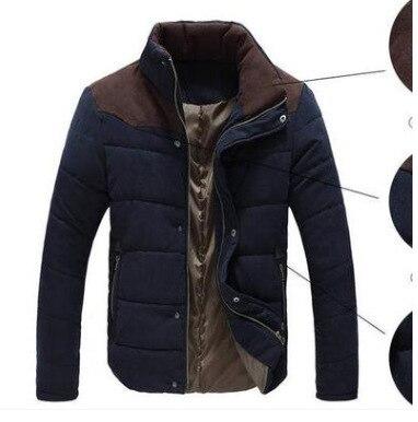 2018 Winter MEN'S Cotton Clothes Thick Warm Men's Casual Coat Men Pick Leather Velvet Fashion Comfortable Cotton-padded Clothes
