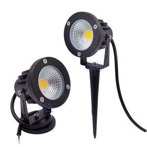 Image 2 - 3W 5W 10W 12W  Mini Led Lawn Garden Light 12V 85 265V Outdoor IP65 Waterproof Spike Landscape Spot Light for Garden Lighting