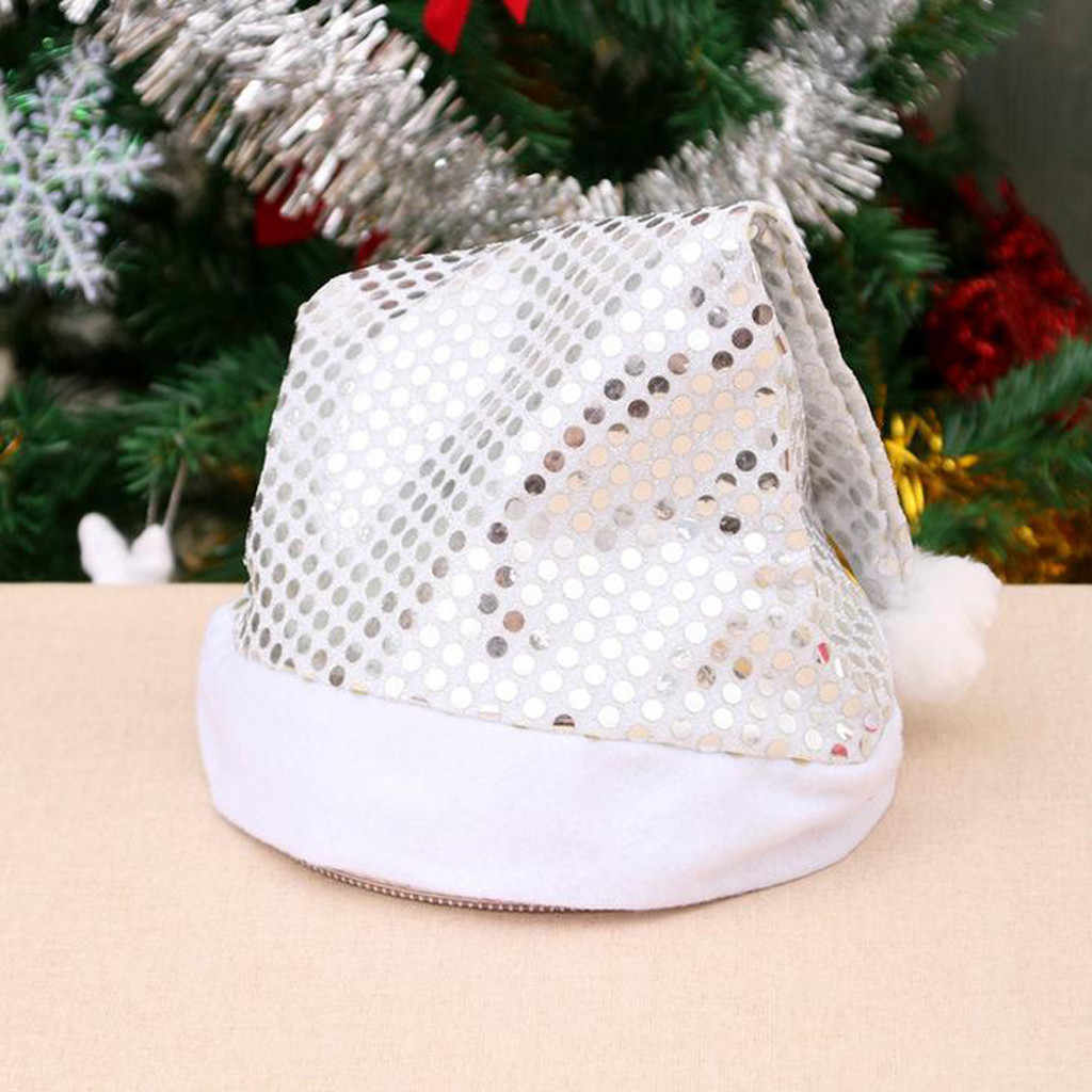 Christmas Cap Thick Ultra Soft Plush Cute Santa Claus Holiday Fancy Dress Hat New Year Christmas Party Decoration #jink