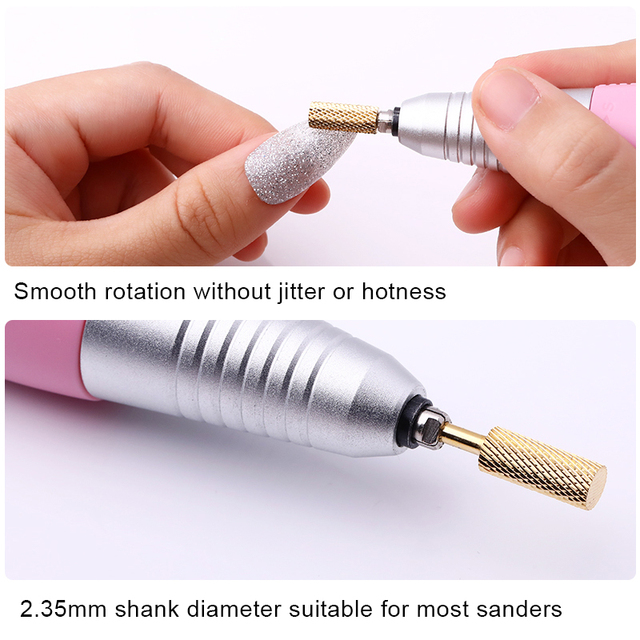 1 Pc Nail Drill Bit Tungsten Steel Polishing Head Nail Art Electric Manicure Machine Carbide Nail Drill Bits Ceramic Carbide Mi