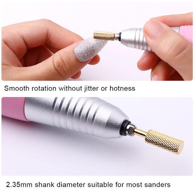 1 Pc Nail Drill Bit Tungsten Steel Polishing Head Nail Art Electric Manicure Machine Carbide Nail Drill Bits Ceramic Carbide Mi