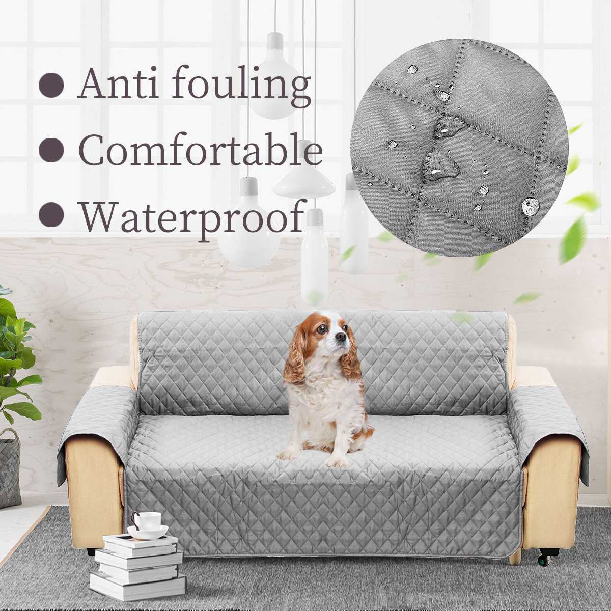 3 Seat Slipcover Couch Protective Cover Removable W/Strap Waterproof For Dog Cat Pet Sofa Non-slip Anti-bite 255x180cm