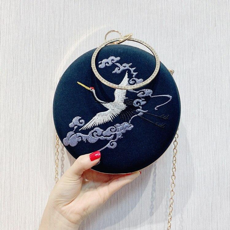 Сумка-мессенджер с вышивкой Cheongsam, китайская ручная сумка с вышивкой, новинка, ручная сумка, вечерние сумки - Цвет: 02