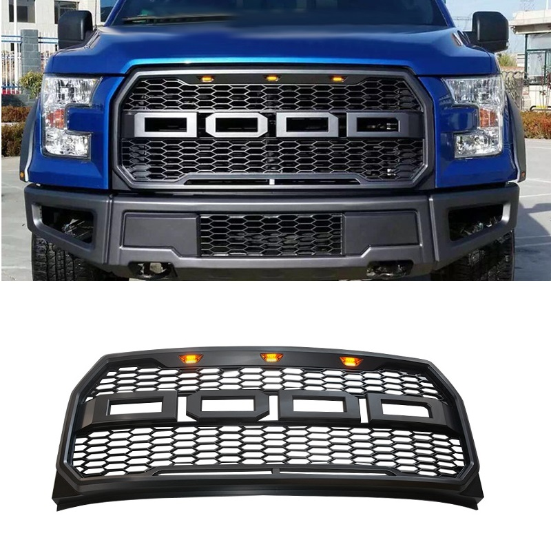 ODM OWN DESIGN MODIFIED FRONT RACING GRILL GRILLE BUMPER MASK COVER FIT FOR F 150 F150 PICKUP MODIFIED GRILLS AUTO PARTS 2015 17|Racing Grills| |  - title=