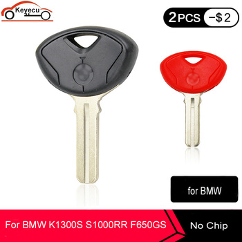 KEYECU for BMW K1200R K1200S R1200RT K1300R K1300S S1000RR F650GS F800GS F800ST Motorcycle Motor Blank Key Shell Case Moto bike image