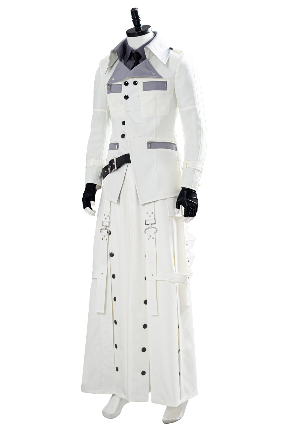 Details about  /Final Fantasy VII Remake Rufus Shinra Cosplay Costume White Outfit Full Set