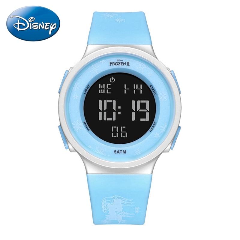 2020 Frozen +% E2% 85% A1 Ребенок Спорт Часы Дети Резина Водонепроницаемый Цифровой Наручные Часы Девушка Синий Розовый Световой Часы Студент Время Подарок