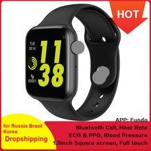 Bluetooth Call Smart Watch W34 Men Pressure Fitness Tracker ECG Heart Rate Monit