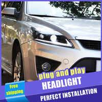 2PCS Auto Stil LED scheinwerfer für Ford Focus 2009-2013 für Fokus kopf lampe LED DRL Objektiv Doppel strahl H7 HID-Xenon-bi-xenon-objektiv