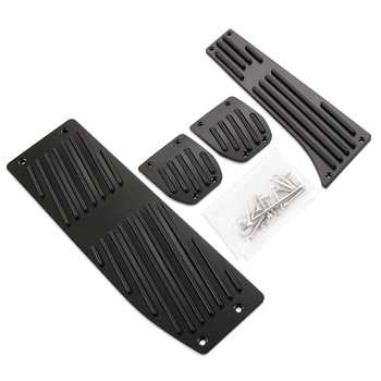 Hot Products Car Accessory Aluminium Alloy MT Foot Pedals Rest For BMW X1 E30 E36 E39 E46 E87 E90 E91 E92 E93 M3 Car-Styling image