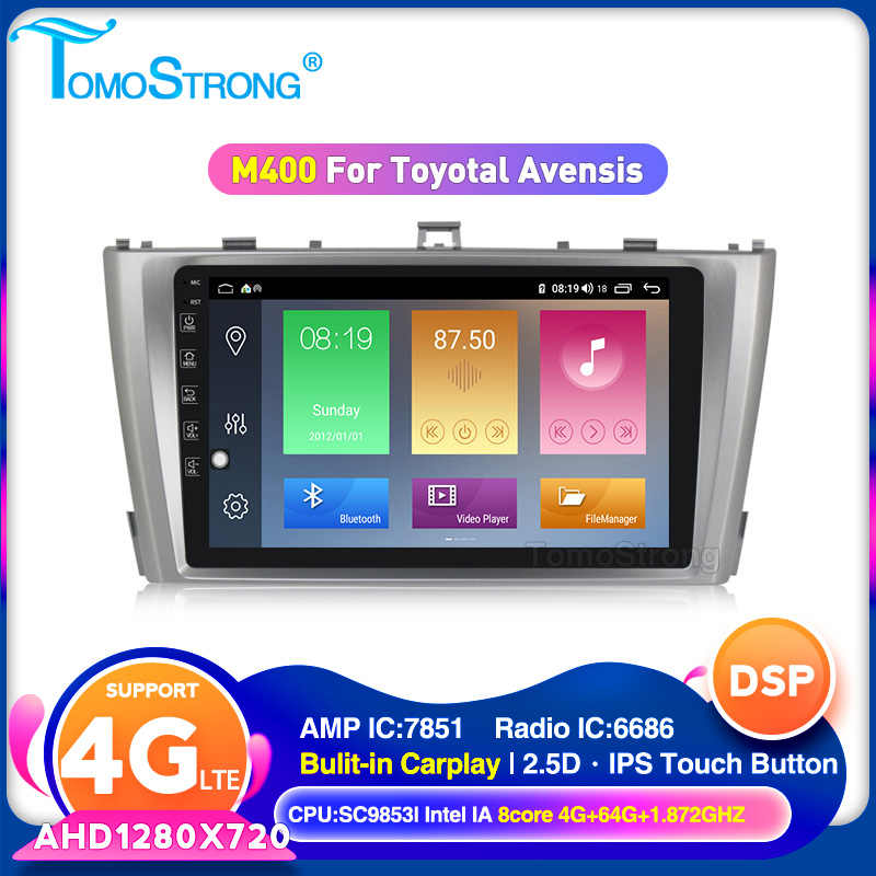 Tomostrong Auto Stereo Multimedia Autoradio Voor Toyota T27 Avensis 2009-2014 Android 10 Auto Radio Gps Navigatie Video