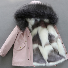 Winter Coat Parka Down-Jacket Faux-Fox-Fur Girl Outerwear Liner Detachable Warm High-Quality