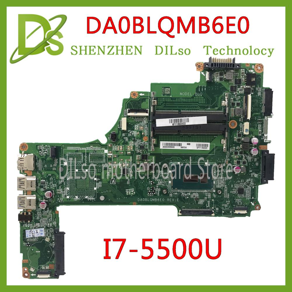 KEFU DA0BLQMB6E0 REV:E For Toshiba Satellite C55 S55 C55-C L50-C Motherboard I7-5500u  A000388620 Work 100% Original