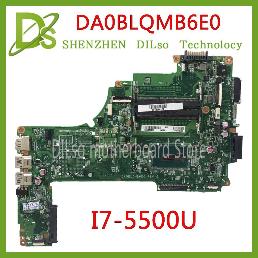KEFU DA0BLQMB6E0 REV: E Per Toshiba Satellite C55 S55 C55-C L50-C Scheda Madre I7-5500u A000388620 lavoro originale di 100%
