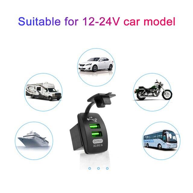 5 v 3.1a universal carregador de carro à prova ddual água portas usb duplas adaptador automático dustproof carregador de telefone para iphone xiaomi redmi samsung