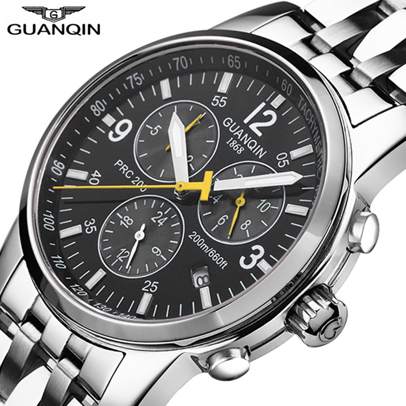 GUANQIN Relogio Masculino 200m waterproof Automatic Watches  Mechanical Wristwatches Men Top Brand Luxury Clock