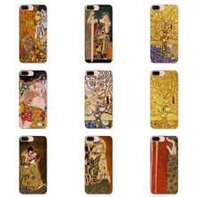 For Apple iPhone 11 Pro X XS Max XR 4 4S 5 5C 5S SE 6 6S 7 8 Plus Soft Custom Design Kiss By Gustav Klimt Design(China)