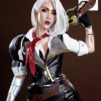 Hot Game OW Ashe Gothic Deadlock Rebels Military Uniform Cosplay Costume Women Halloween Carnival Outfit