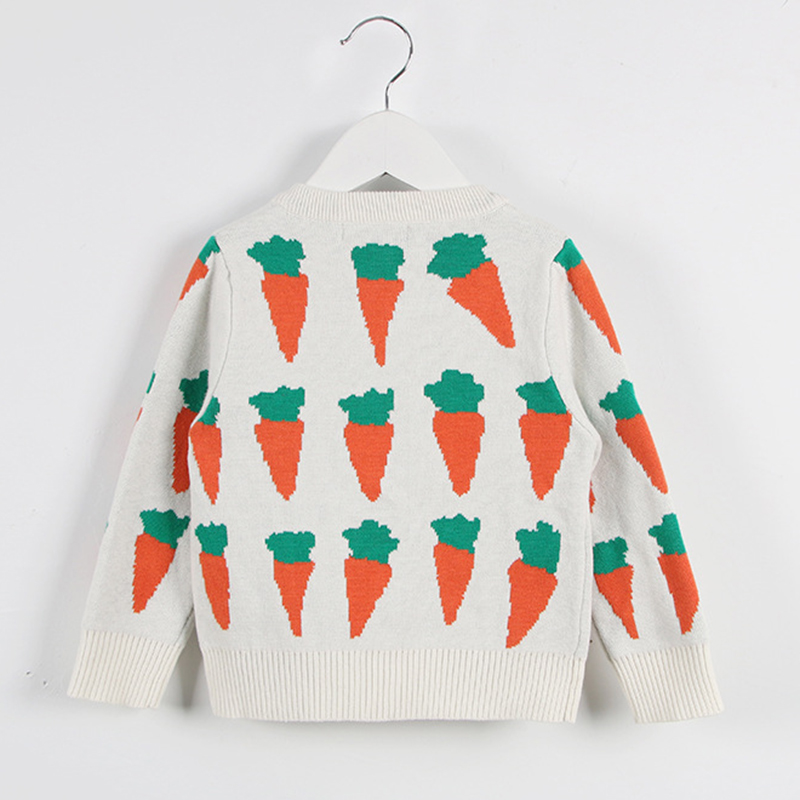 Autumn Kids Cardigans Sweaters Baby Girls Boys Knitted Outerwear Jacket Toddler Cotton Coat Printing Spring Children Sweater 6