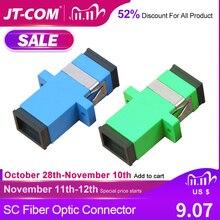 Adaptador de conector de fibra óptica SC, 200 Uds., SC / UPC SM brida monomodo Simplex SC SC acoplador APC, venta al por mayor a