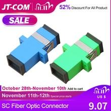 Free Shipping!200Pcs SC Fiber Optic Connector Adapter SC / UPC SM Flange Singlemode Simplex SC SC APC Coupler Wholesale to