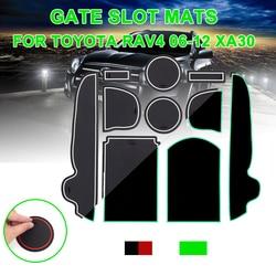 For Toyota RAV4 2006-2012 xa30 Anti-Slip Gate Slot Mat Rubber Coaster Accessories For RAV 4 2006 2007 2008 2009 2010 2011 2012