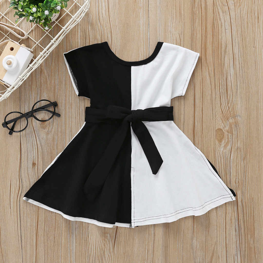 Toddler Kids Clothes Baby Girls Patchwork Princess Girdle Dress vestidos Casual vestido infantil Clothes платье для девочки