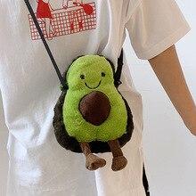 Plush Messenger Bag Infant Adult Baby Shoulder Bags Fashion Cartoon Avocado Zipper Girls Boys Cute Children