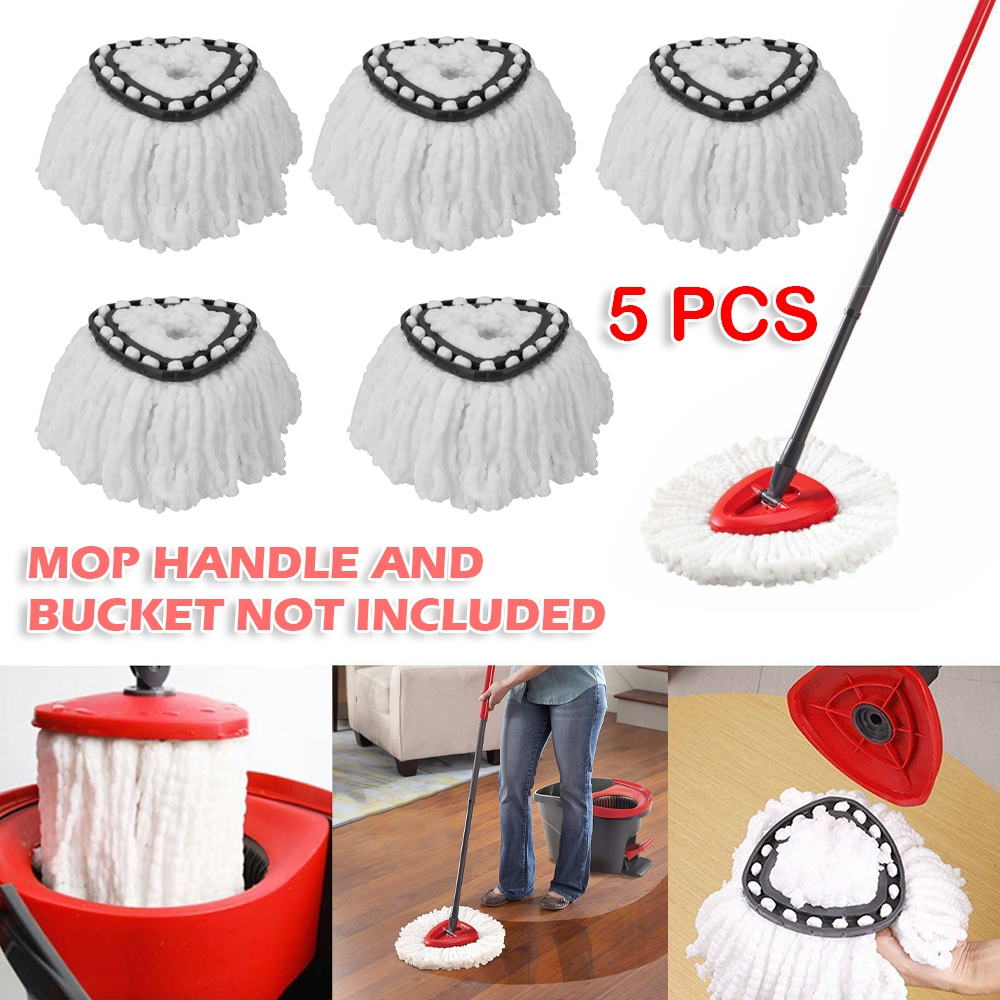 5pcs/lot 360 Rotating Mop Head Replacement Refill Microfiber Spinning Floor Mop Cleaning Head Refill Mop Head for Vileda|Mops| - AliExpress