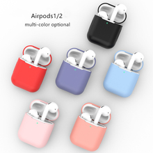 Silicone Case For Apple Airpods Case 2 1Wireless Bluetooth Earphone accessories Cover Apple Air Pod Case Air pods Cover case tanie tanio STARSTRING CN(Origin) Earphone Cases 56*47*24mm For airpods 1 2
